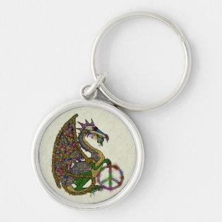 Jeweled Peace Dragon Keychain