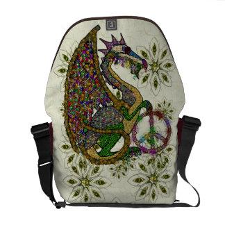 Jeweled Peace Dragon Messenger Bag