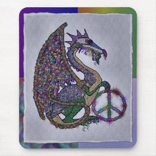 Jeweled Peace Dragon Mouse Pad