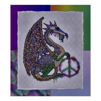 Jeweled Peace Dragon Poster