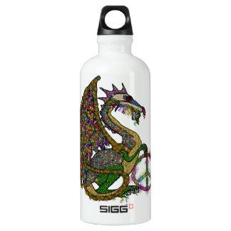 Jeweled Peace Dragon Water Bottle
