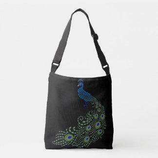 Jeweled Peacock Crossbody Bag