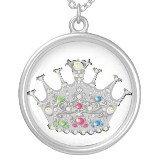 Jeweled Princess Crown Necklace