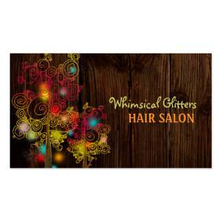 Jeweled Spiral Trees Hair Stylist Business Cards
