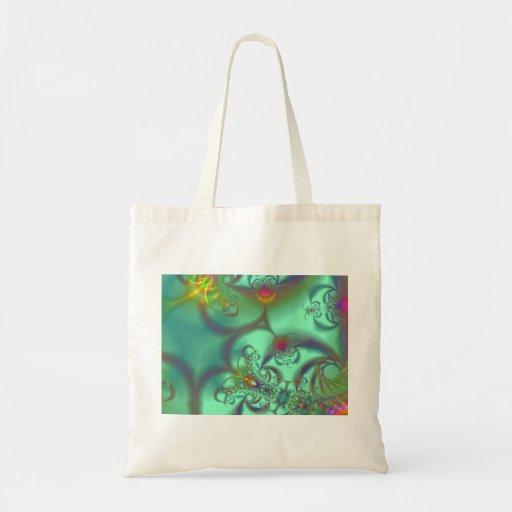 Jeweled Staircase - Abstract Emerald Kaleidoscope Bag