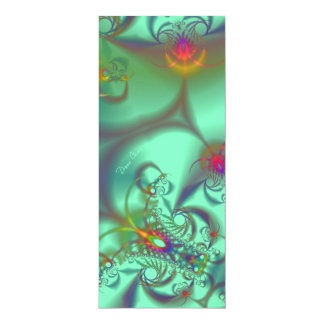 Jeweled Staircase - Abstract Emerald Kaleidoscope Card