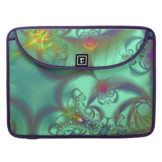 Jeweled Staircase - Abstract Emerald Kaleidoscope MacBook Pro Sleeve