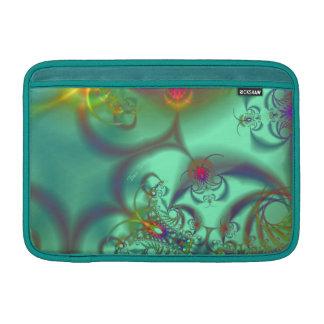 Jeweled Staircase - Abstract Emerald Kaleidoscope MacBook Sleeve