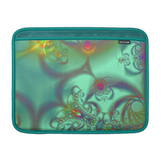 Jeweled Staircase - Abstract Emerald Kaleidoscope Sleeve For MacBook Air