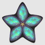 Jeweled Star - Teal Stickers