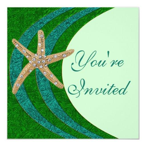 Jeweled Starfish Party Invitation