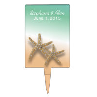 Jeweled Starfish Wedding Cake Topper