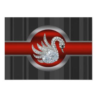 Jeweled Swan Party Invitation