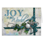 Jeweled Teal and Silver Christmas Card