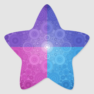 Jeweled Toned Circle Delight Star Sticker
