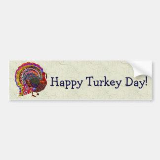 Jeweled Turkey Car Bumper Sticker