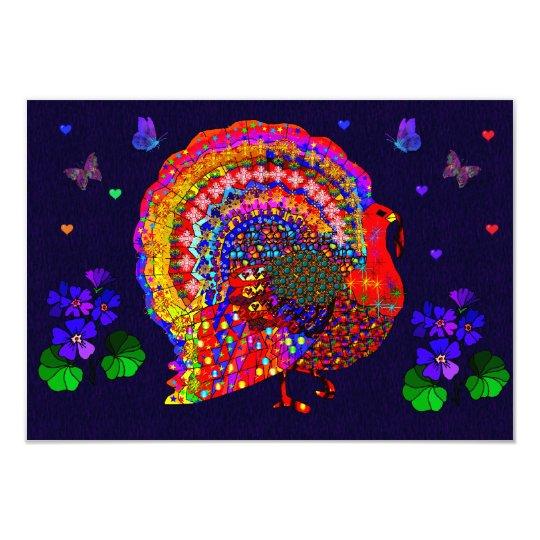 Jeweled Turkey Card