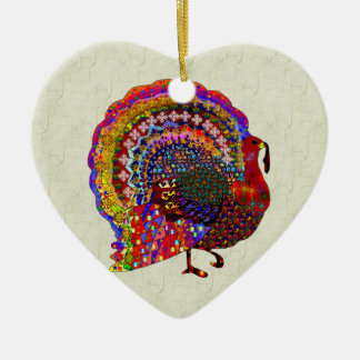 Jeweled Turkey Ceramic Ornament