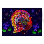 Jeweled Turkey Greeting Card