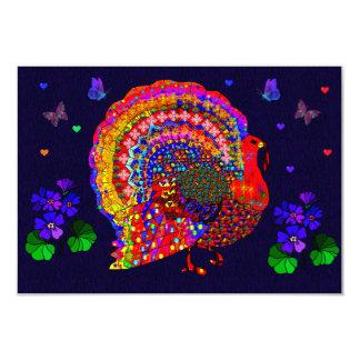 Jeweled Turkey 3.5x5 Paper Invitation Card