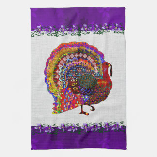Jeweled Turkey Kitchen Towel