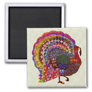 Jeweled Turkey Magnet