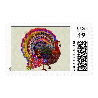 Jeweled Turkey Postage Stamp