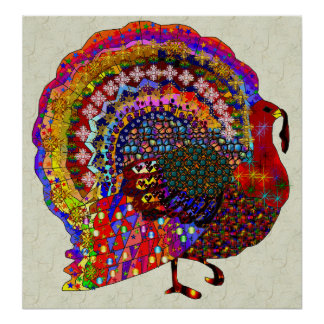Jeweled Turkey Posters