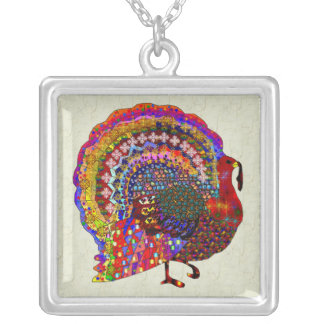 Jeweled Turkey Silver Plated Necklace