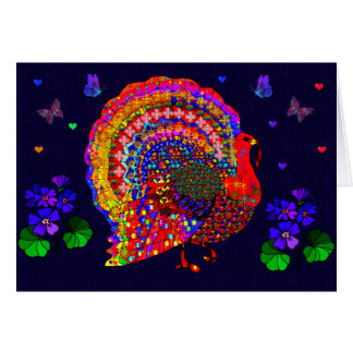 Jeweled Turkey Stationery Note Card