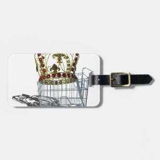 JeweledCrowedInShoppingCart070515.png Bag Tag