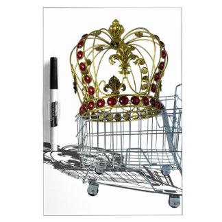JeweledCrowedInShoppingCart070515.png Dry Erase Board