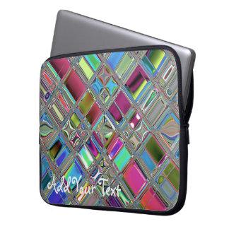 Jewelee Shiney Mosaic Art Laptop Computer Sleeve