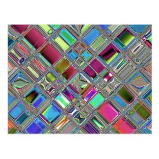 Jewelee Shiney Mosaic Art Postcard