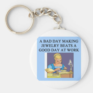 jeweler jewelery making maker basic round button keychain