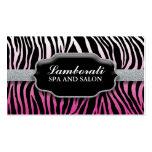 Jeweler Jewelry Zebra Print Diamond Pink Double-Sided Standard Business Cards (Pack Of 100)