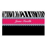 Jeweler Jewelry Zebra Print Diamond Sparkle Business Cards