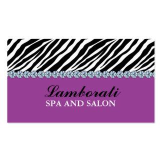 Jeweler Jewelry Zebra Print Diamond Sparkle Business Card Templates