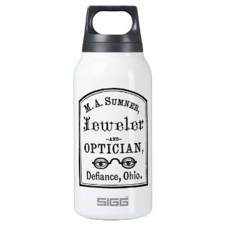 Jeweler & Optician Advert 10 Oz Insulated SIGG Thermos Water Bottle
