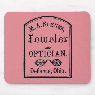 Jeweler & Optician Advert Mouse Pad