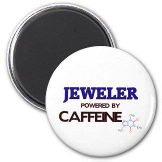 Jeweler Powered by caffeine 2 Inch Round Magnet