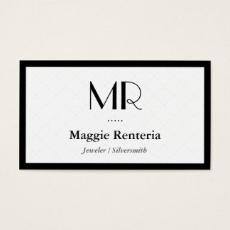 Jeweler / Silversmith - Clean Stylish Monogram Business Card