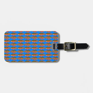 JewelfishPattern in sea blue Bag Tag