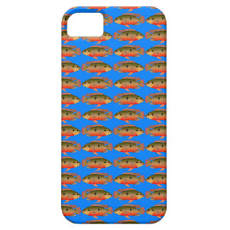 JewelfishPattern in sea blue iPhone SE/5/5s Case