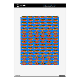 JewelfishPattern in sea blue Skin For iPad