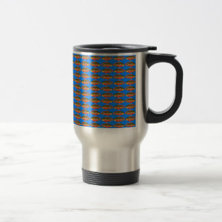 JewelfishPattern in sea blue Travel Mug