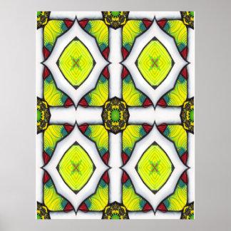 Jewelled Cross Poster