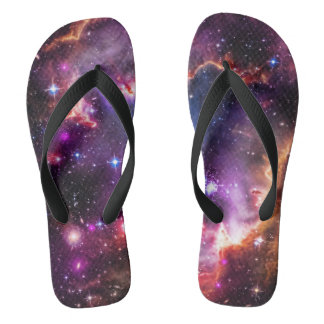 Jewelled dazzling starry space picture, smc flip flops