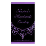 Jewelled Glam Business Card, Amethyst