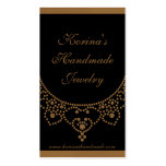 Jewelled Glam Business Card, Gold
